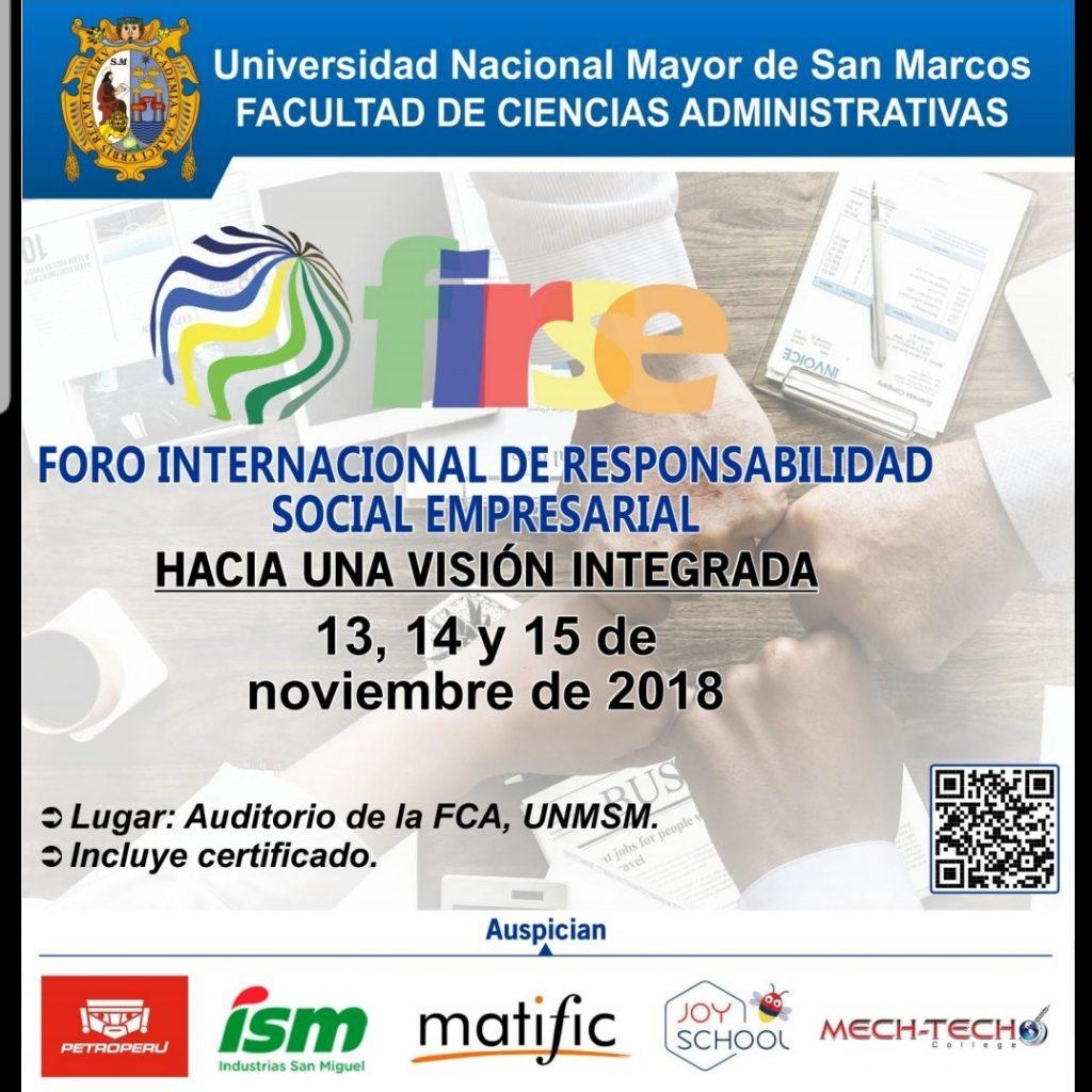 """FORO INTERNACIONAL DE RESPONSABILIDAD SOCIAL EMPRESARIAL """"HACIA UNA VISIÓN INTEGRADA EN EL PAÍS"""""""