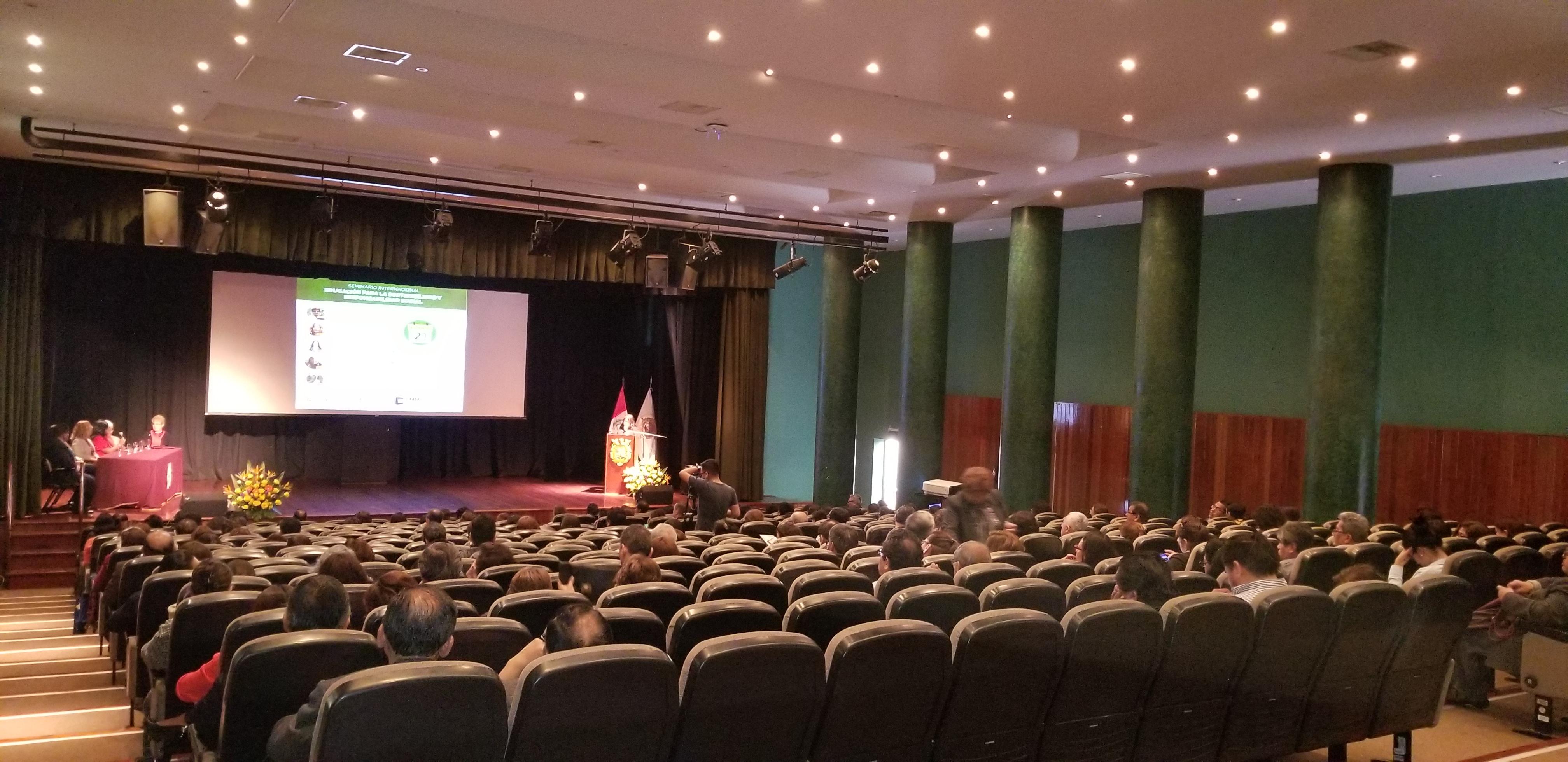 SEMINARIO INTERNACIONAL EDUCACIÓN PARA LA SOSTENIBILIDAD Y RESPONSABILIDAD SOCIAL