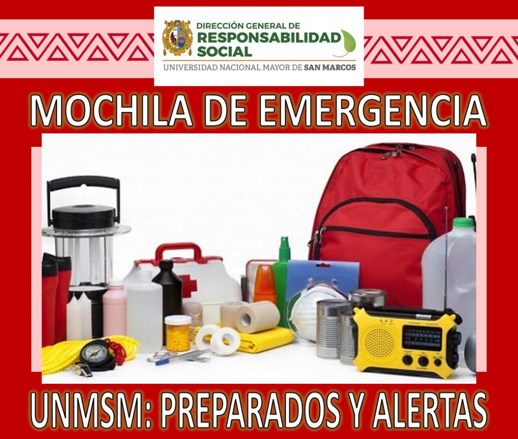 Prevención DGRS: A TENER LA MOCHILA DE EMERGENCIA.