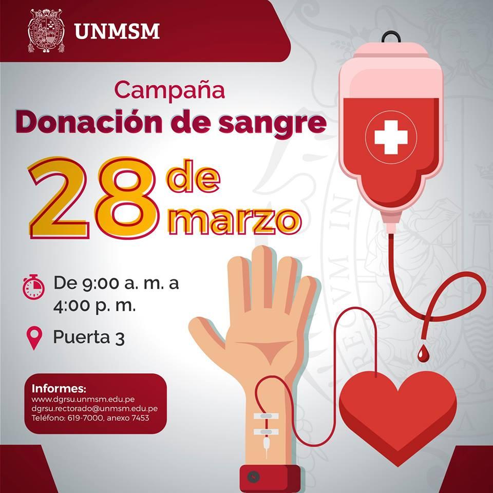 Campaña de Donación de sangre.