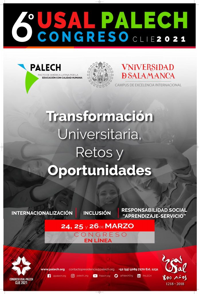 """Dirección General de Responsabilidad Social – UNMSM participa en 6º Congreso Internacional de Investigación Educativa USAL-PALECH """"CLIE 2021"""""""